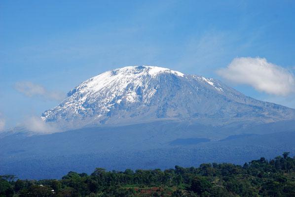 Blick auf den Kilimanjaro in Materuni