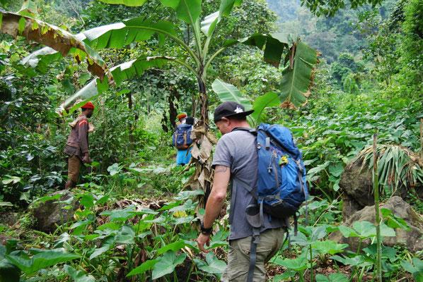 Wanderung in Shimbwe am Kilimanjaro