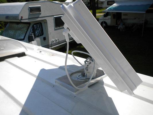 Antenne ausgerichtet für den Empfang