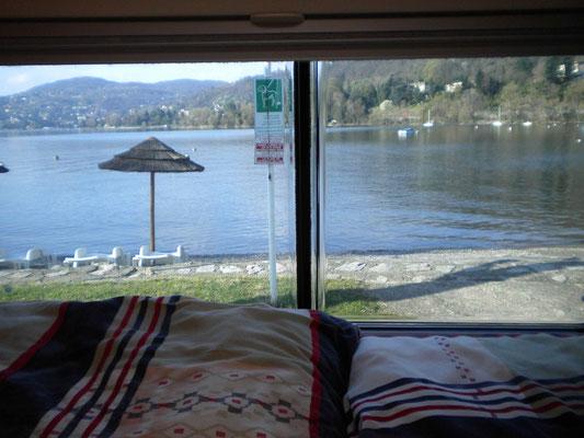 Blick aus unserem Schlafzimmerfenster