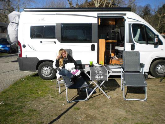 Am Campingplatz in Solico