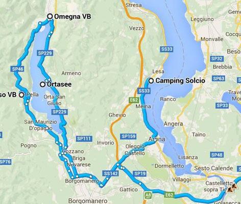 Lago Maggiore und Lago d Orta