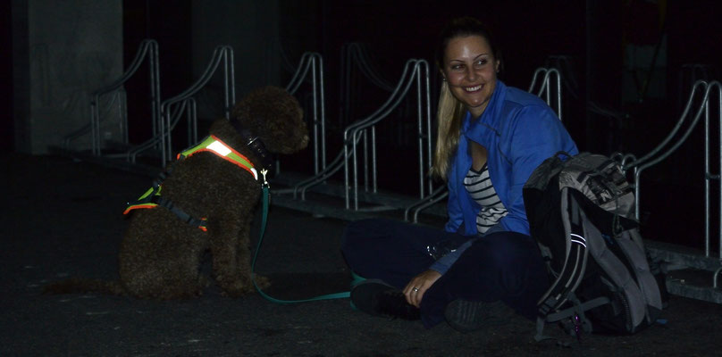 Lisa mit Georgia (Lagotto Romagnolo)
