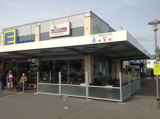 Windschutzanlage Einkaufscenter