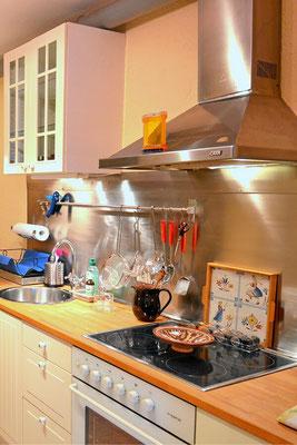 Küche für preiswerte Selbstverpflegung