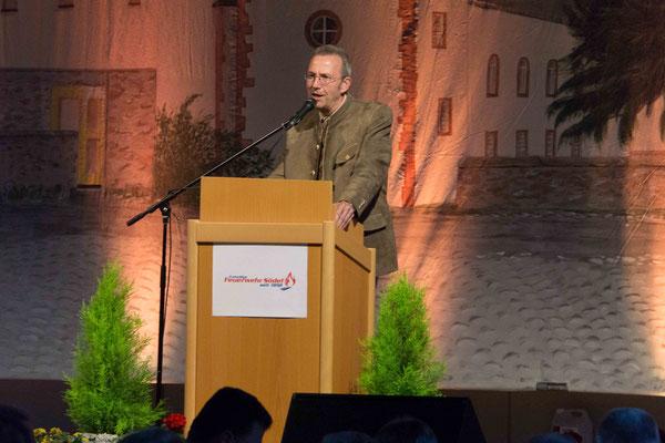 Schirmherr der Jubiläumsveranstaltungen, Landrat Joachim Arnold