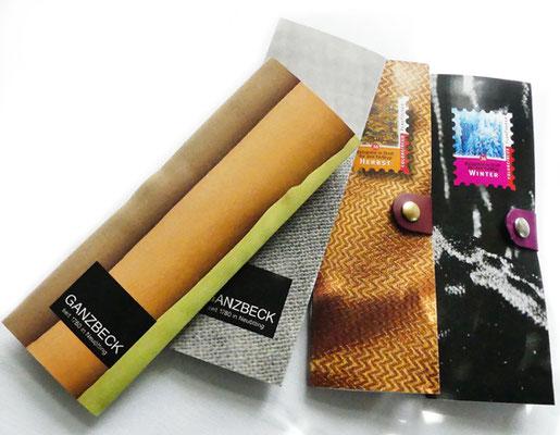 FlagFolder-Farbfächer in Stoff mit Logo-Bedruckung auf der Rückseite nach Kundenwunsch