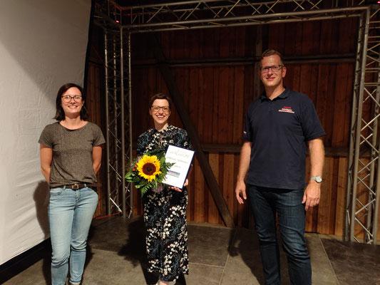 von links nach rechts: Ines Markull, Sabrina Tiedemann, Janek Lünstedt
