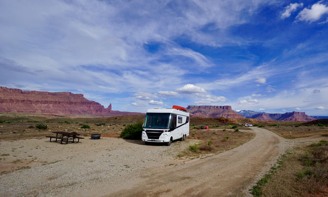 Moab, Nice View from our Camping Place