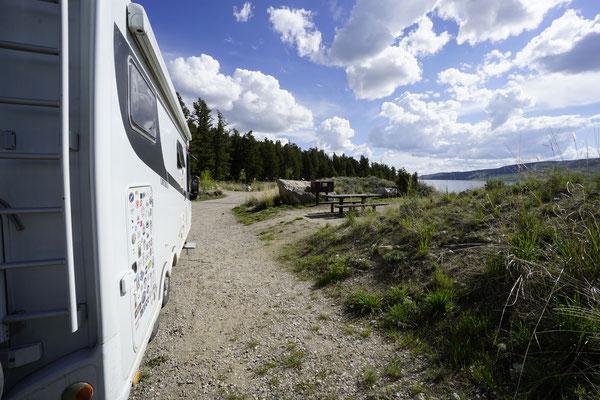 Camping next to the Lake
