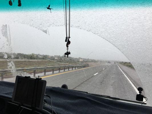 Near Santa Fe..Snow on end go May