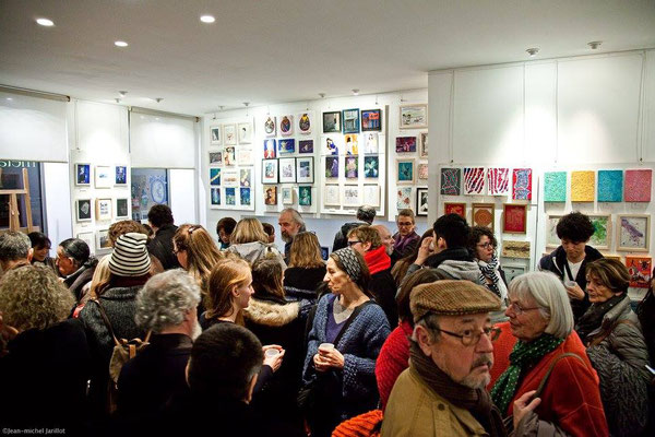 Vernissage de l'exposition petits formats sur le zodiaque à la Galerie Metanoia