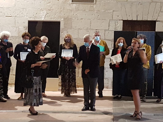 Remise des prix, Abbaye de Fontevraud, août 2020