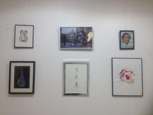 """Au centre, en bas, enluminure-calligraphie nushu """"Livret du 3eme jour"""" sélectionnée (création 2016 MSYoung)"""