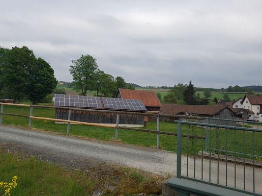 Solarstrom auf der Scheune