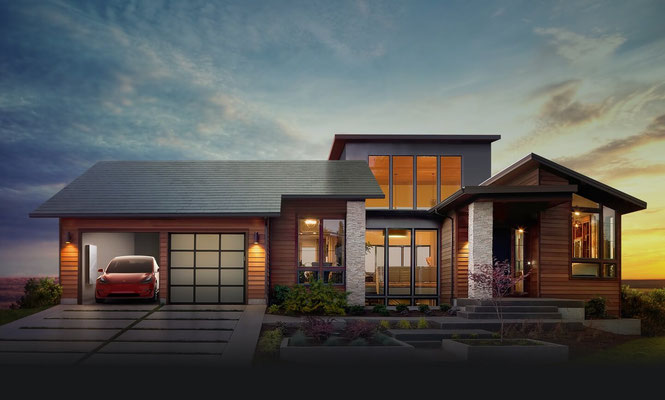 Tesla Solarroof - Dachziegel als Solarmodule
