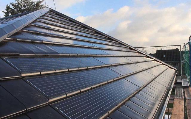 Dachintegrierte Solarmodule Braas