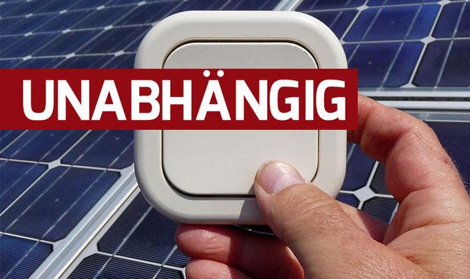 100% unabhängig mit der Sonnenbatterie