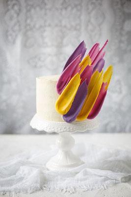 gâteau de mariage couleurs