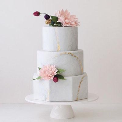 marble cake wedding cake