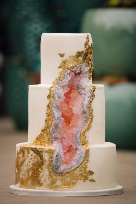geode cake mariage