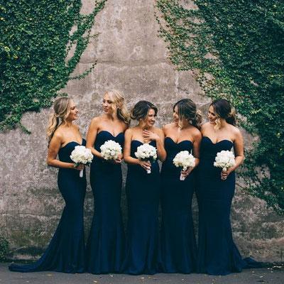 robe bleue demoiselle d'honneur