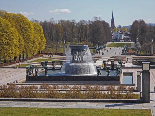 Blick Richtung Stadtzentrum Oslo