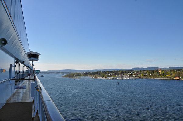 Ausfahrt aus dem Oslofjord