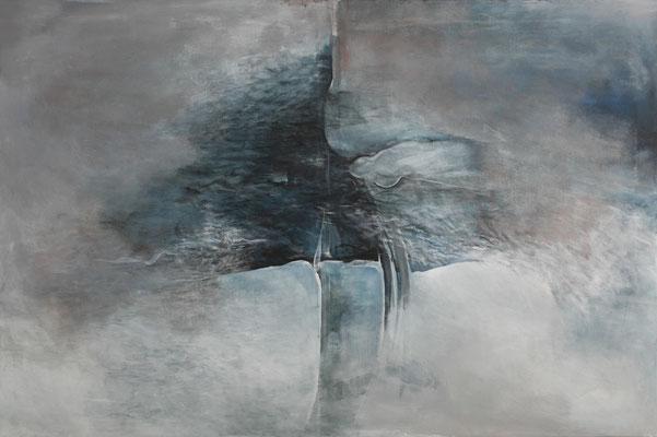Krajina vody I * akryl na plátně * 120/80