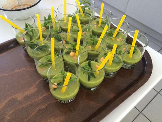Grüner Smoothie mit Chiasamen