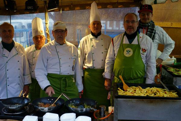 Die Akteure von links nach rechts: Walter Gauß, Holger Bechthold, Dieter Spengler, Thomas Kehr, Markus Schmidt und Martin Braun!