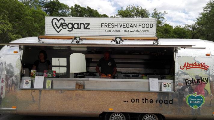 Auch die Veganer traten cool auf.