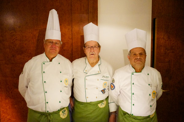 Einige unserer fleißigen Köche: v. l. n. r. Anton Hosmann, Dieter Spengler und Holger Bechthold