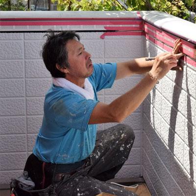 ②通気器具と壁目地のシーリング。