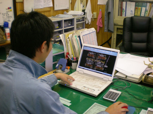 CADデータによる図面寸法測定、寸法検査表作成