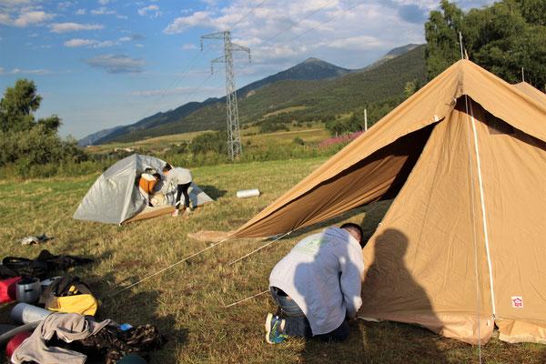 Préparation du camps