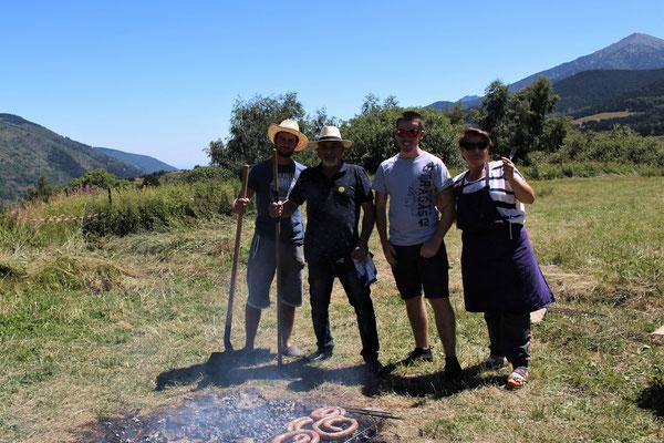 Barbecue préparé par l'équipe