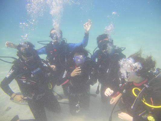 groupe baptême mada scuba plongée
