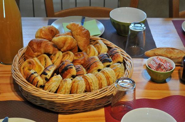 Quelques gourmandises pour le petit déjeuner