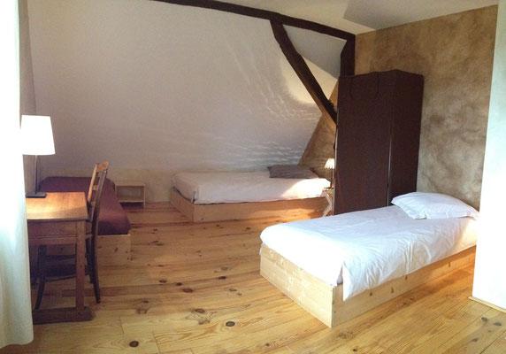 La chambre Chocolat (3 lits simples)