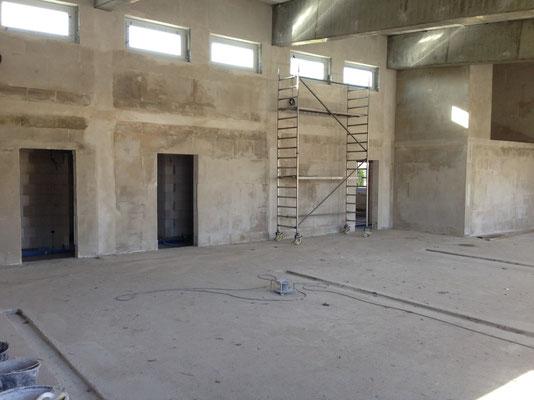 Fahrzeughalle- Innen