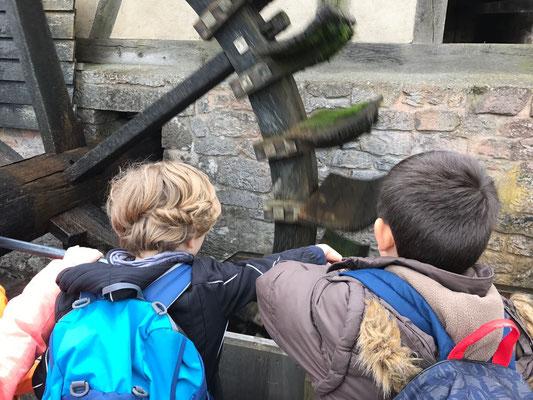 Wasserrad der Ölmühle