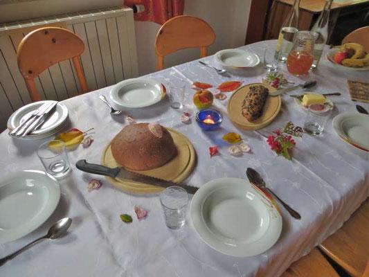 wir durften mehrfach total leckere Speisen aus Mutter Natur genießen