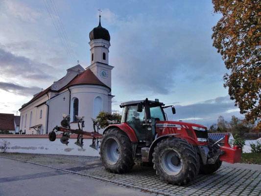 die Kirche von Allmannshofen