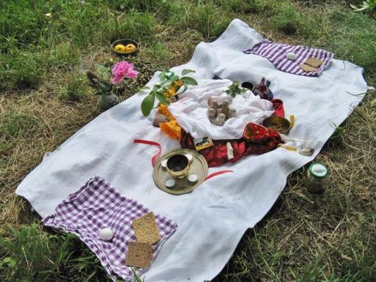 Ritual für die 4 Himmelsrichtungen