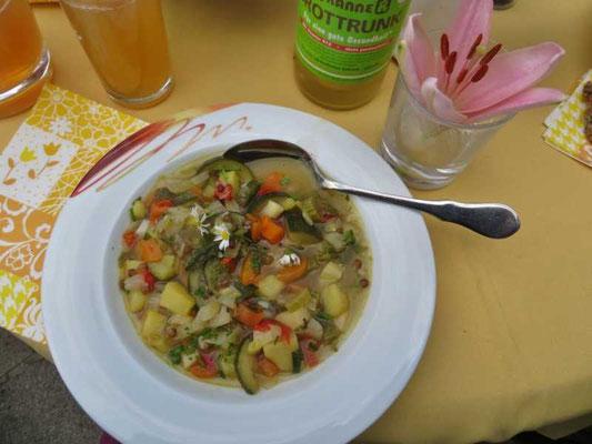 eine leckere Suppe ist entstanden