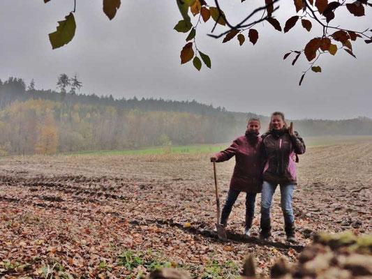 Besuch der Streuobstwiese in der Nähe von Allmannshofen