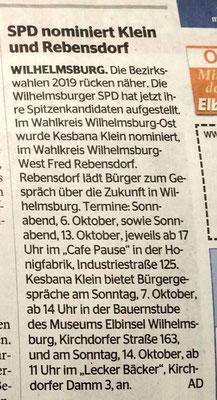 Wochenblatt Wilhelmsburg vom 04.10.18