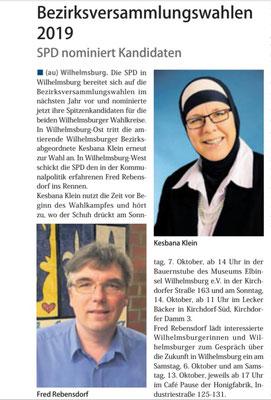 Neuer Ruf Wilhelmsburg vom 29.09.18