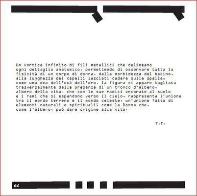 """Estratto delle Didascalie Critiche scritte per il Catalogo della Mostra di Bruno Melappioni  """"Il Filo Continuo"""""""